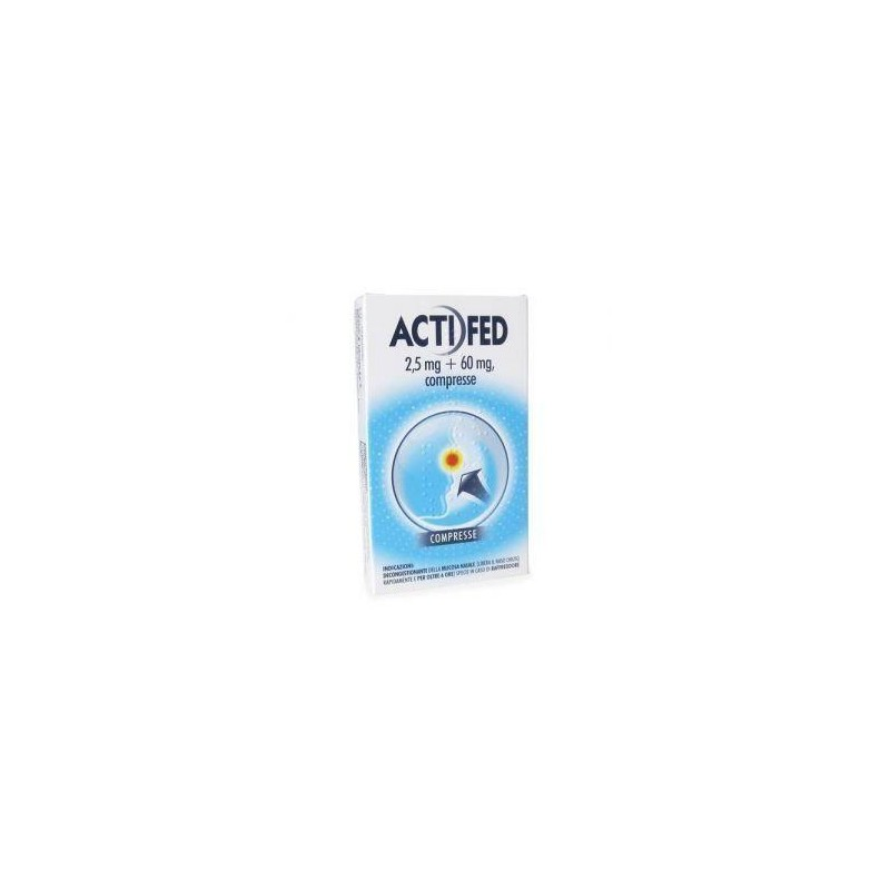 ACTIFED%12CPR 2,5MG+60MG