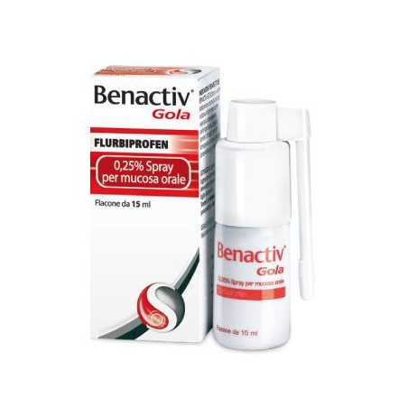 BENACTIV GOLA%SPRAY 15ML 0,25%