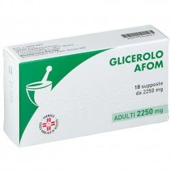 GLICEROLO AFOM%AD 18SUPP2250MG