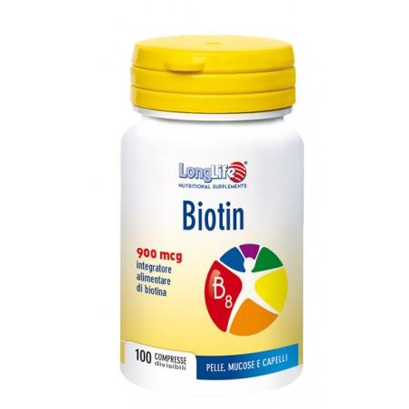 LONGLIFE BIOTIN 900MCG 100CPR